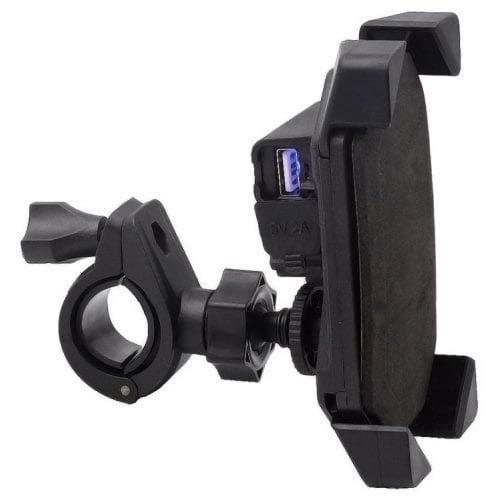 HaiMa Moto USB Téléphone Portable Charge Support De Navigation Support-Noir