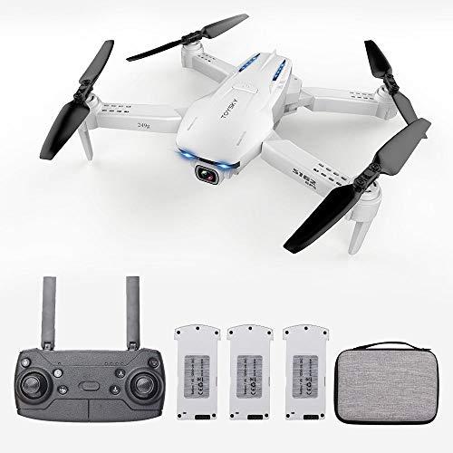 Goolsky- S162 RC Drone con Cámara GPS Ajustable Gran Angular 4K WiFi Gesto Foto Video MV FPV RC Quadcopter Sígueme Drone para Adultos 3 Batería