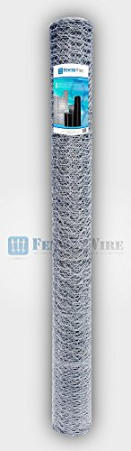 Fencer Wire 20 Gauge Galvanized Poultry Hex Netting with 1 inch Mesh (3 ft. x 50 ft.)