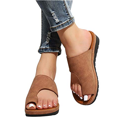 CCCS Damen Sandalen Plattform Bequeme Reise Schuhe OrthopäDische Schuhe Strand Sommerschuhe Plateausandalen Atmungsaktiv Pantoffeln