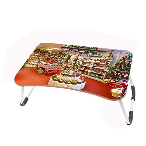 LIZELUO Escritorio para Laptop Tienda Puede Usar para Desayunar Leer Mirar Películas En La Cama/Sofá 60x40cm