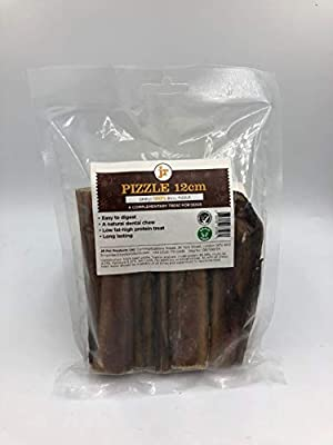 J R Pet Products 8 x 12cm Pizzle. 100% pure meat as well as being air dried and completely free of bacteria.