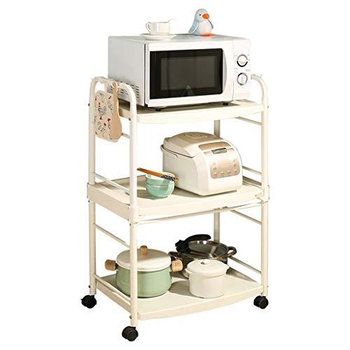 LCHY TB Multifunktions-Regaleinheit, für Haus, Wohnzimmer, Küche, Mikrowelle, Brotbackautomat, 3 Schichten mit Ablageboden