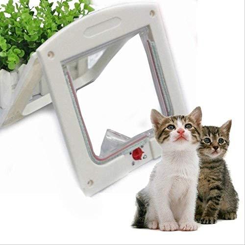 Découvrez les détails, facile et rapide multi-fonctions Pet Flap, Chatières for portes Chien Chat Chaton de sécurité de porte en plastique S porte à battant / m / l Chien animal Rongeur chat porte de
