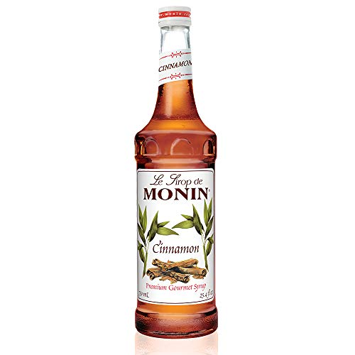 Monin - Cinnamon Syrup, Sweet and Spicy Taste of Cinnamon, Versatile Flavor, Natural Flavors, Great for Coffees, Cocoas, Ciders, and Cocktails, Vegan, Non-GMO, Gluten-Free (750 Milliliters)
