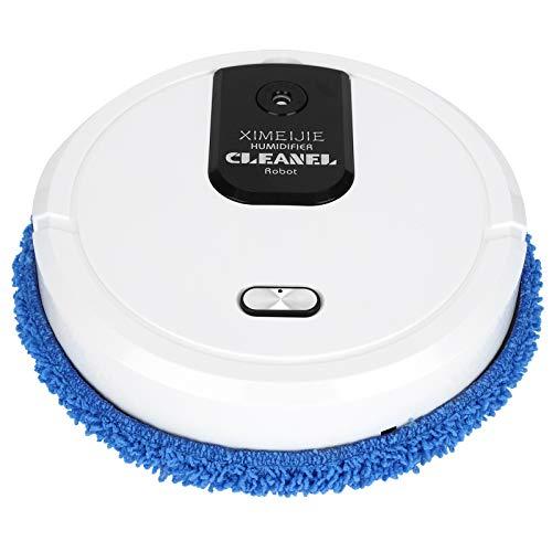 Robô aspirador de pó, máquina de varrer automotiva, robô doméstico de limpeza a seco e molhado, máquina de limpeza de piso para pelos de animais de estimação - recarregável (branco)