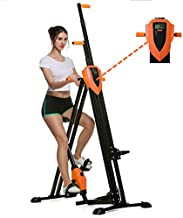 Flyerstoy Vertical Climber Cardio Exercise - Folding Exercise Climbing Machine,Total Body Workout Climber Machine for Home Gym, Exercise Bike for Home Body Trainer