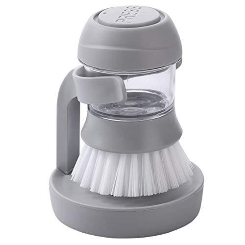 Lichtgewicht en handig Non-stick Oil Automatic Liquid Reinigingsborstel for afwasmachines decontaminatie Wash Pot Kitchen Appliances Brush Pot Artifact hjm wujingongju (Color : Gary, Size : M)
