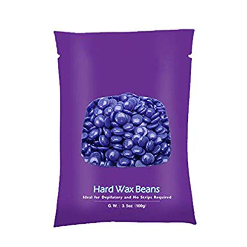 Waxing Kit, Hair Removal Home Waxing Kit with 1 Flavors Stripless Hard Wax Beans 20 Wax Applicator Sticks, At Home Waxing Kit for Full Body, Eyebrows, Face, Bikini, Legs for Men and Women