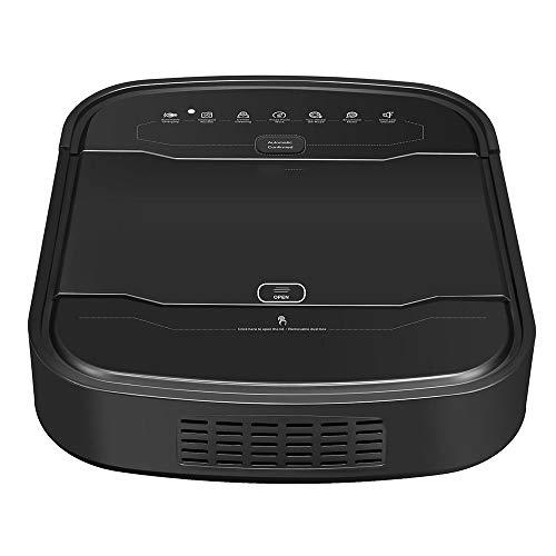 Ramingt-Home Aspiradora Aspirador 2100pa automático Inteligente barrendero Auto-Carga Aspiradora para el Pelo del Animal doméstico (Color : Black, Size : One Size)