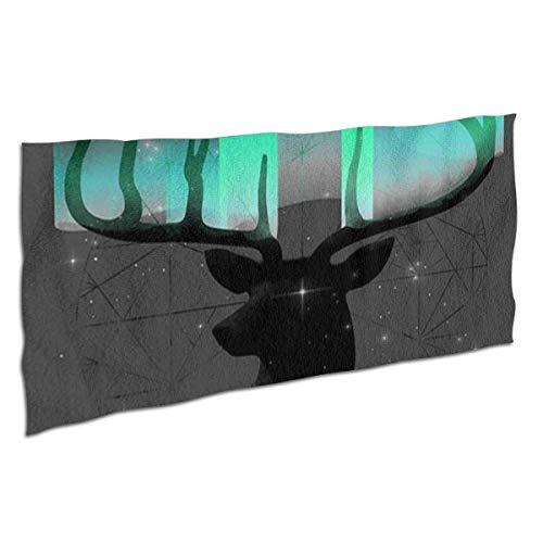 Toallas Bathroom Towels Toalla De Baño Cabeza de ciervo de auroras boreales Shower Towels 80X130CM