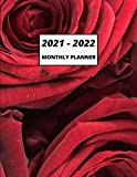 2021-2022 MONTHLY PLANNER: Flowers Theme, Two Year Planner Calendar Schedule Organizer - 24 Months Pages for Notes, Personal Information, Contact Information And Password Logbook.