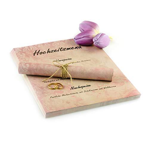 Garsihome edles Briefpapier Vintage zum Hochzeitseinladungen selber basteln A4, altes Vintage Papier Briefpapier für Mädchen, Liebesbrief, Kirchenheft Hochzeit oder Einladungen (floral, 50 Briefbögen)