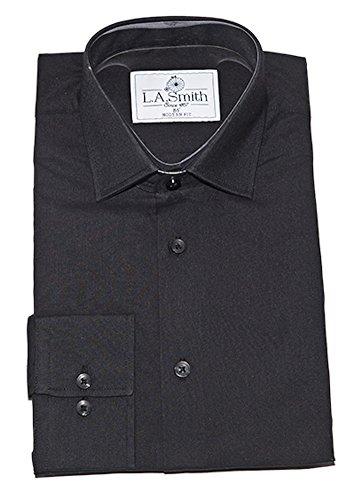 Lloyd Attree & Smith Brilliant Black Plain Standard Kragen Kleid Kilt Hochzeit Hemd Jungen 6 Größen
