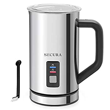 Secura Milk Frother Electric Milk Steamer Stainless Steel 8.4oz/250ml Automatic Hot and Cold Foam Maker and Milk Warmer for Latte Cappuccinos Macchiato 120V