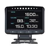 OBD2 OBD II HUD Head Up Display Digital Car Computer Auto ECU Film Gauge Speed Meter Electronic Monitor Diagnosis Tool with Display KMH MPH