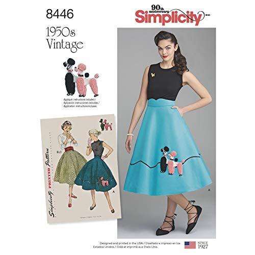 Simplicity Schnittmuster 8446 1950er Jahre Vintage Rock & Kummerbund