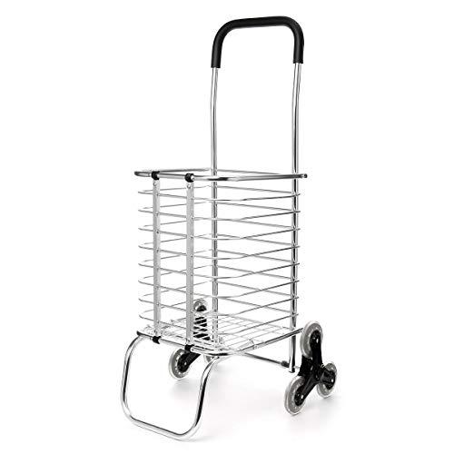 Industrial Hardware 65 kg para escalera, plegable, cesta de la compra, carrito de equipaje, 6 ruedas