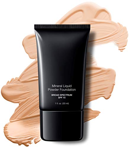 Mineral Liquid Powder Foundation SPF 15/1 Oz. Hypoallergenic - For All Skin Types (Porcelain)