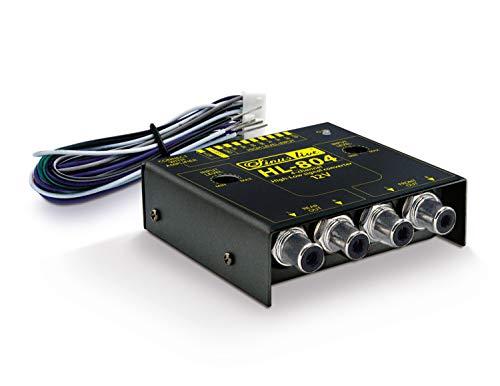 Sinuslive 14244 HL-804 High/Low-Level-Converter 4-Kanal mit Remote Hochpegel/Niedrigpegel-Signalwandler schwarz