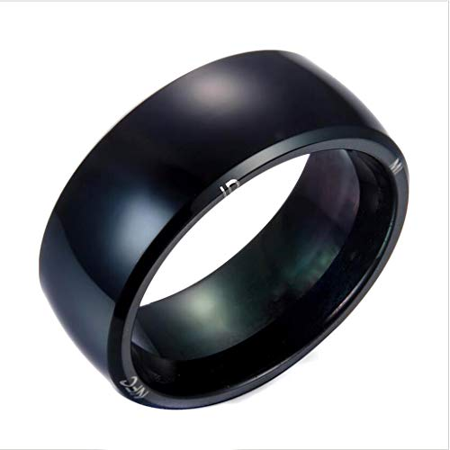JINGJING Intelligentes Armband NFC Smart tragbar Gerät Hightech Intelligentes Zubehör Intelligenter Ring Herr der Ringe DREI Chips,Black,14