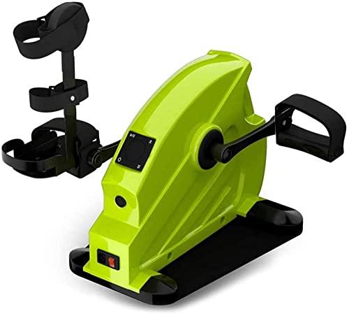 RRB RRB Bicicleta de rehabilitación Mini Entrenador portátil RRB Debajo del Escritorio Ejercitador de recuperación del Brazo de la Pierna Entrenamiento Cardiovascular con Resistencia Ajustable-C