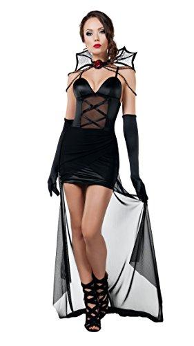 Starline Damen Glamoruous Vamp Costume Kostüme für Erwachsene, Schwarz 21, Medium