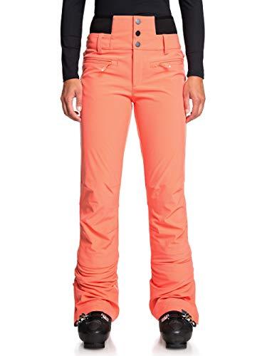 Roxy Rising High - Pantalón Shell para Nieve para Mujer Pantalón Shell para Nieve, Mujer, Living Coral, XS