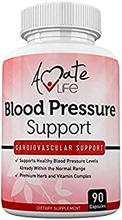 Lower Blood Pressure Health Formula - Natural Blood Pressure Pills Supplement with Hawthorne, Garlic, Hibiscus & Olive Lea...