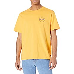 Camiseta amarilla Levi's Relaxed Fit Tee con logo Kumquat