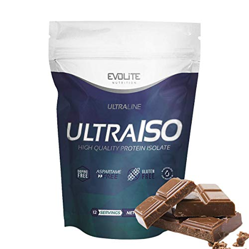 Evolite Nutrition Ultra Iso Whey 300 g - Whey Protein Isolate, High Protein Powder, Muscle Growth and Support, Create a Beautiful Body - Chocolate
