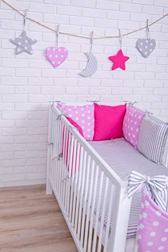 Baby Bettwäsche Design2 Nestchen Bettset 100x135 für Babybett Decke Kissen Bettumrandung