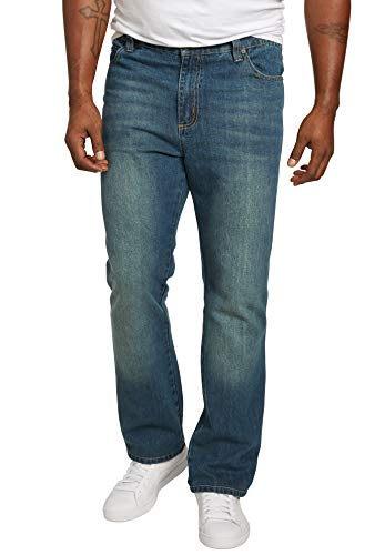 Liberty Blues Men's Big & Tall Athletic Fit Side Elastic 5-Pocket Jeans - Big - 52 38, Blue Wash