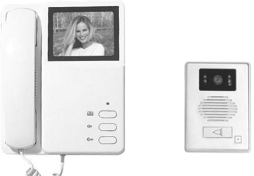 Electraline 59222 - Vídeo portero con pantalla en blanco y negro de 4 hilos