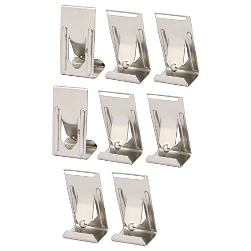sourcingmap 26mmx14mm Picture Photo Frame Metal Spring Turn Clip Hanger Siver Tone 8pcs