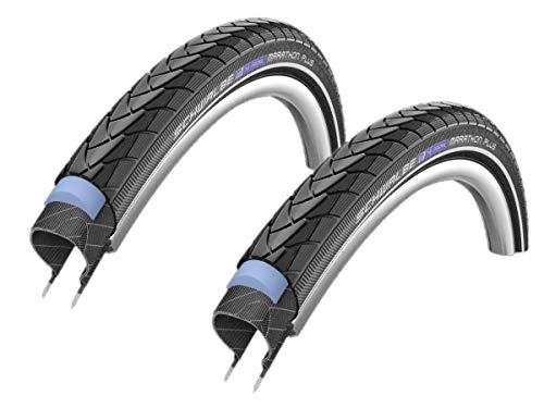2x Schwalbe Marathon PLUS Fahrrad Reifen 40-622 28x1.50 Unplattbar Draht reflex