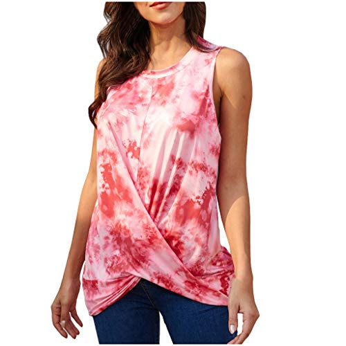 Review ANJUNIE Women's Gradient Printing Tunic Tank Tops, T-Shirt Round Neck Shirt Tee Top Blouse(Re...