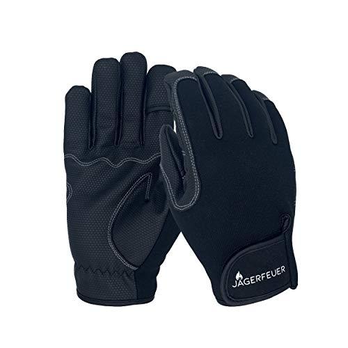 Jägerfeuer Anglerhandschuhe mit umklappbaren Fingerkuppen Angelhandschuhe rutschfest (L)