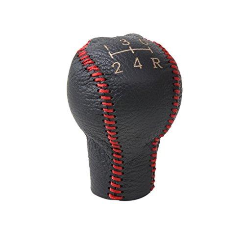 Echtes Leder 5-Gang Schaltknauf Abdeckung für Peugeot 106 206 306 307 308 3008 406 605 Citroen Saxo C2 C4 C4 Picasso