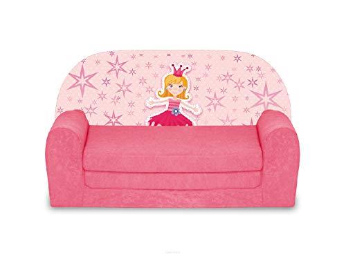 FORTISLINE Kindersofa Mini zum Aufklappen Prinzessin III W386_47