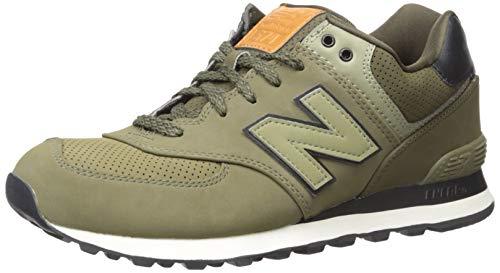 New Balance 574, Sneaker a Collo Basso Uomo, Verde (Olive), 45 EU