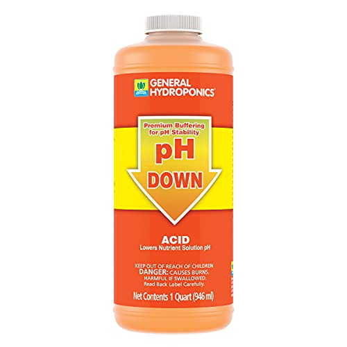 General Hydroponics pH Down Liquid Premium Buffering For pH Stability, Quart