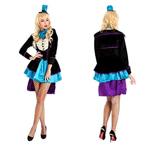 YRE Traje de Carnaval, Circo Mago Traje cos Reina Vestido, Discoteca Jazz Vestido Partido, Vestido de Disfraces