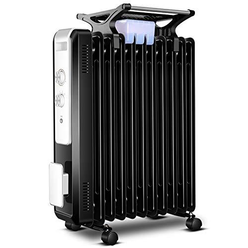 XKHG Heizkörper - 2100W 11 Fin Portable Electric Slim Heater - 3 Leistungsstufen, Einstellbare Temperatur/Thermostat, Sicherheitsabschaltung