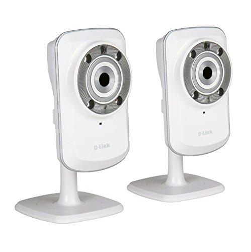 D-Link DCS-932L-TWIN - Kit 2 cámaras WiFi y Ethernet videovigilancia (IP con micrófono y visión Nocturna, compatibles con App mydlink - iOS y Android)