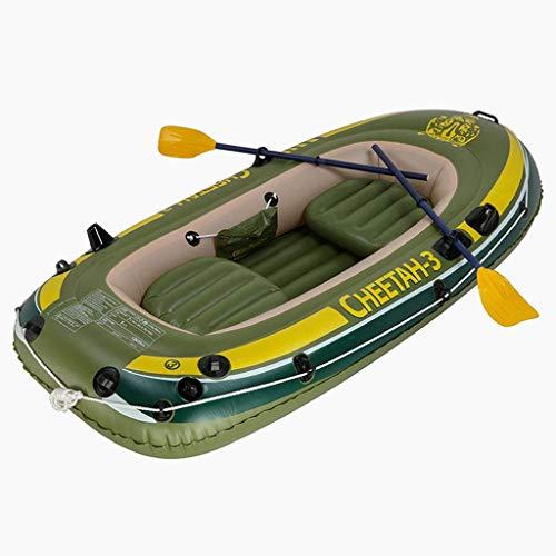 Zwembad, 3-persoons opblaasbare boot om peddels en handmatige luchtpomp te verzenden PVC opblaasbare kajak 248 * 127CM waterentertainment