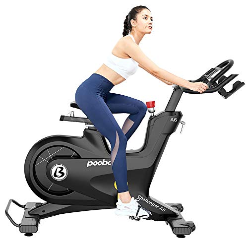 pooboo Commercial Stationary Bike Magnetic Resistance Belt Drive Bike Exercise Bike Indoor Cycling Bike