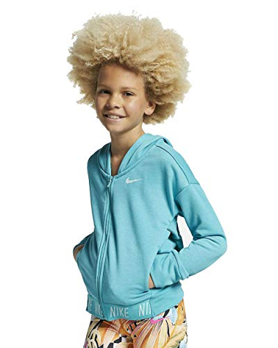 Nike G Nk Hoodie Fz Studio - Sudadera para niña Caba/Htr/Teal Tint XL