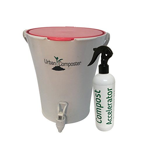 Mejor Exaco Trading Co. UCsmall-R-K Urban Composter & Accelerator Spray Kit, 2.1 Gallon Red crítica 2020
