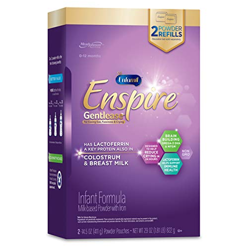 Enfamil Enspire Gentlease Infant Formula with MFGM & Lactoferrin, a Protein found in Colostrum - Powder Refill Box, 29 oz